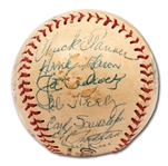 1957 MILWAUKEE BRAVES WORLD CHAMPIONS TEAM SIGNED BASEBALL