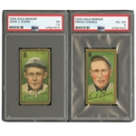 1911 T205 GOLD BORDER LOT OF (16) INCL. M. BROWN, TINKER, EVERS & CHANCE