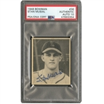 1948 BOWMAN #36 STAN MUSIAL ROOKIE AUTOGRAPHED - PSA/DNA GEM MINT 10