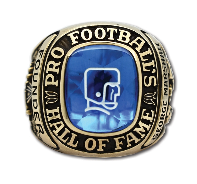 GEORGE PRESTON MARSHALLS 1963 PRO FOOTBALL HALL OF FAME RING - ONE OF NFLS FOUNDING FATHERS
