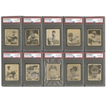 FINEST KNOWN 1948 BOWMAN BASEBALL AUTOGRAPHED SET WITH 42 SIGNED & ENCAPSULATED INCL. HIGH-GRADE MUSIAL, SPAHN & KINER ROOKIES! (COMPLETE SET OF 48 W/ 6 UNSIGNED COMMONS)