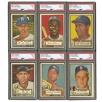 1952 TOPPS BASEBALL COMPLETE SET OF (407) WITH 103 PSA GRADED INCL. MAYS, MANTLE & ALL 97 HIGH #S!