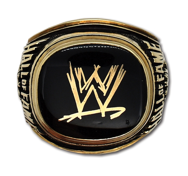 "BRUNO SAMMARTINOS 2013 WORLD WRESTLING ENTERTAINMENT HALL OF FAME INDUCTION RING - ""THE GODFATHER"" OF PRO WRESTLING (SAMMARTINO FAMILY LOA)"