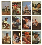 1953 BOWMAN COLOR COMPLETE SET OF (160) WITH PSA GRADED #59 MICKEY MANTLE & TWO OTHERS
