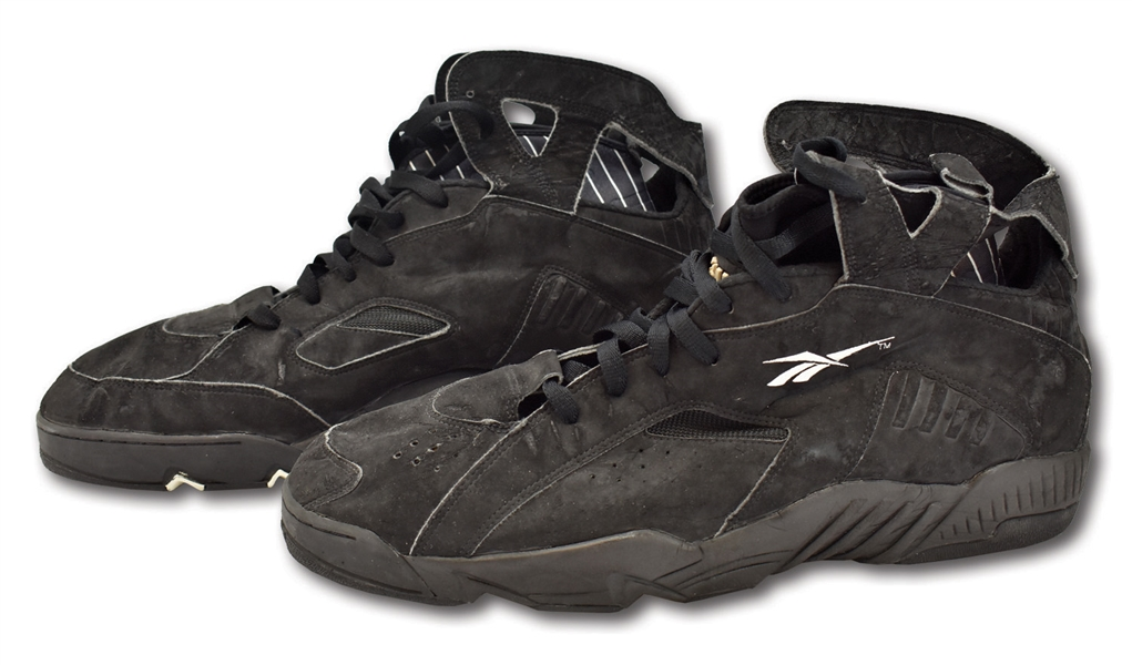 1993-94 SHAQUILLE ONEAL ORLANDO MAGIC (2ND SEASON) GAME WORN REEBOK SHAQ ATTAQ 3 SIGNATURE MODEL SHOES (SIZE 21)