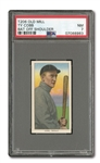 1909-11 T206 OLD MILL TY COBB (BAT OFF SHOULDER) PSA NM 7 - POP ONE, ONLY TWO HIGHER