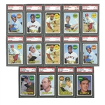1969 TOPPS BASEBALL MASTER SET (663 + 31 VARIATIONS) RANKED #12 ON PSA REGISTRY (ALMOST 100% NM-MT 8 TO GEM MINT 10)