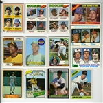 1960S-80S LOT OF (13) HALL OF FAMERS & STAR ROOKIE CARDS INCL. PALMER, R.JACKSON, SCHMIDT, WINFIELD, DAWSON, HENDERSON, RIPKEN, GWYNN, ETC.