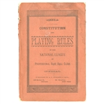 "1885 NATIONAL LEAGUE ""CONSTITUTION AND PLAYING RULES"" BY SPALDING"