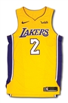 2017-18 LONZO BALL LOS ANGELES LAKERS (ROOKIE SEASON) GAME WORN HOME JERSEY