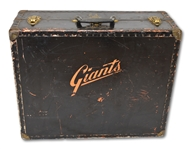 C. 1950-60S WILLIE MAYS USED N.Y./S.F. GIANTS TRAVEL TRUNK WITH FASCINATING PROVENANCE