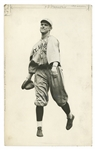 1916 GEORGE SISLER ST. LOUIS BROWNS EARLY CAREER 7x11 ORIGINAL PHOTO BY CHARLES CONLON - RARE GELATIN SILVER DIE CUT EXAMPLE!