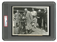 "APRIL 27, 1947 ""BABE RUTH DAY"" ORIGINAL AP WIRE PHOTO (PSA/DNA TYPE I)"