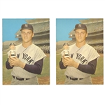 PAIR OF 1961-63 ROGER MARIS BOBBIN HEAD DOLL AD PHOTOS