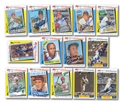 1982 TOPPS K-MART 20TH ANNIVERSARY LOT OF (13) AUTOGRAPHED CARDS INCL. MANTLE & AARON