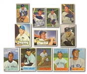 YANKEES CARD LOT OF (25) 1950-61 BOWMAN & TOPPS INCL. JOHNNY MIZE (ONE SIGNED), RIZZUTO, STENGEL, ETC.