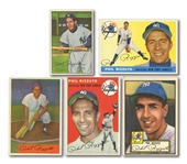 PHIL RIZZUTO LOT OF (5) DIFFERENT 1952-55 TOPPS & BOWMAN CARDS