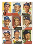 1953 TOPPS LOT OF (18) DIFFERENT INCL. #220 SATCHELL PAIGE (PSA VG-EX 4) AND #27 ROY CAMPANELLA