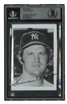 THURMAN MUNSON AUTOGRAPHED NEW YORK YANKEES SMALL FORMAT PLAYER-PACK PHOTO (BECKETT 8 AUTO.)