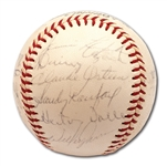 1965 LOS ANGELES DODGERS WORLD CHAMPIONS TEAM SIGNED BASEBALL (21 AUTOS.)