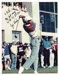 1992 TIGER WOODS SIGNED & SIGNED 11x14 PHOTO FROM HIS PGA TOUR DEBUT (L.A. OPEN) AT AGE 16 - SOURCED FROM HIS FIRST GOLF CLUB FITTER