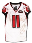 12/6/2015 JULIO JONES SIGNED & INSCRIBED ATLANTA FALCONS GAME WORN ROAD JERSEY - UNWASHED & EASILY PHOTO-MATCHED (MEARS A10)