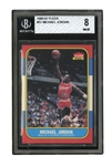 1986-87 FLEER #57 MICHAEL JORDAN ROOKIE - BGS NM-MT 8