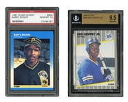 1987 FLEER GLOSSY #604 BARRY BONDS (PSA GEM MINT 10) AND 1989 FLEER #548 KEN GRIFFEY JR. (BGS GEM MINT 9.5)
