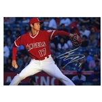 SHOHEI OHTANI PAIR OF AUTOGRAPHED LOS ANGELES ANGELS 8x10 PHOTOS (BATTING & PITCHING)