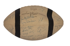 "1958-59 BALTIMORE COLTS (BACK-TO-BACK) WORLD CHAMPIONS TEAM SIGNED FOOTBALL - WON ""GREATEST GAME EVER PLAYED"" IN 58 NFL TITLE"