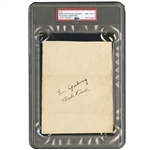 C. MID-LATE 1920S BABE RUTH AND LOU GEHRIG DUAL-SIGNED PAGE (PSA/DNA NM-MT 8)