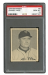 1948 BOWMAN #4 JOHNNY MIZE - PSA GEM MINT 10 (POP 2)