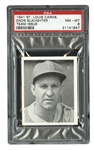 1941 ST. LOUIS CARDINALS TEAM ISSUE ENOS SLAUGHTER - PSA NM-MT 8