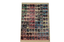 1985-86 STAR CO. BASKETBALL UNCUT SHEET OF 100 WITH #117 MICHAEL JORDAN AND COMPLETE 10-CARD MJ SET