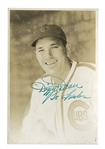 LATE 1930S DIZZY DEAN AUTOGRAPHED CHICAGO CUBS ORIGINAL PHOTO BY GEORGE BURKE - PSA/DNA TYPE I / AUTO. GRADE 8