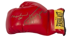 MUHAMMAD ALI AND JOE FRAZIER DUAL-SIGNED EVERLAST BOXING GLOVE