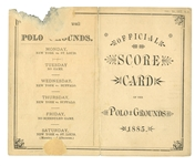 1885 NEW YORK GIANTS (VS. ST. LOUIS MAROONS) POLO GROUNDS OFFICIAL SCORE CARD