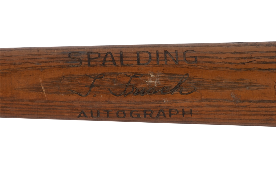 1920-24 FRANKIE FRISCH (EARLY CAREER) GAME USED SPALDING PROFESSIONAL MODEL BAT (PSA/DNA GU 8.5)