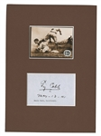 1941 TY COBB BOLDLY SIGNED & DATED ALBUM PAGE WITH MODERN BASEBALL CARD DISPLAY - PSA/DNA MINT 9