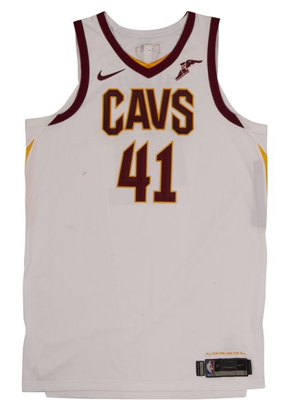 2018 ANTE ZIZIC CLEVELAND CAVALIERS NBA FINALS (VS. GSW) GAME 2 WORN JERSEY (MEIGRAY LOA, RESOLUTION PHOTO-MATCHED)
