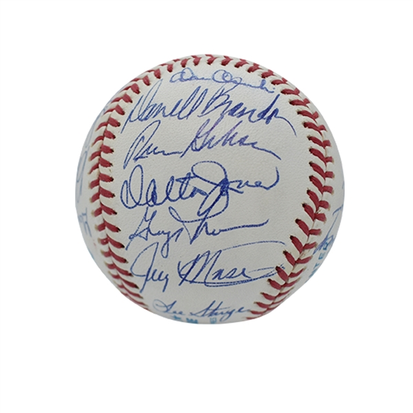 1967 BOSTON RED SOX A.L. CHAMPIONS TEAM SIGNED (REUNION) OAL BASEBALL - PSA/DNA MINT 9 OVERALL