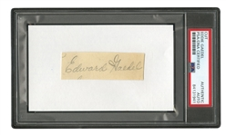 RARE EDDIE GAEDEL CUT SIGNATURE - SHORTEST MAN TO EVER APPEAR IN MLB GAME (PSA/DNA AUTHENTIC)