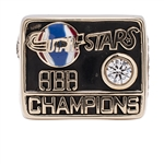 BILL SHARMANS 1971 UTAH STARS ABA CHAMPIONS 14K GOLD RING (SHARMAN FAMILY LOA)
