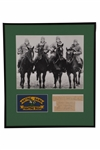"""THE FOUR HORSEMEN"" CUT SIGNATURE NOTRE DAME DISPLAY COMPLETE WITH STUHLDREHER, MILLER, CROWLEY & LAYDEN"