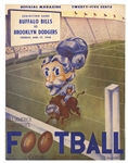 1948 BUFFALO BILLS ALL-AMERICAN FOOTBALL CONFERENCE TEAM MAGAZINE AND 8/17/48 GAME PROGRAM VS. BROOKLYN DODGERS (BOTH RARE)