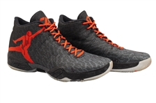 2014-15 RUSSELL WESTBROOK (OKC) GAME WORN & DUAL-SIGNED AIR JORDAN XXXI MVP SIGNATURE MODEL SHOES PHOTO-MATCHED TO MULTIPLE GAMES! (KNICKS BALL BOY COLLECTION)
