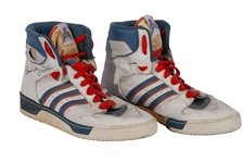C.1986-88 PATRICK EWING NEW YORK KNICKS GAME WORN ADIDAS CONDUCTOR SIGNATURE MODEL SHOES (KNICKS BALL BOY LOA)