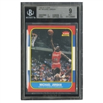 1986-87 FLEER #57 MICHAEL JORDAN ROOKIE - BGS MINT 9