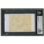"VINTAGE MICHAEL JORDAN CUT SIGNATURE WITH ""BEST WISHES"" INSCRIPTION - BECKETT AUTHENTIC"