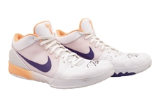 2019-20 DEVIN BOOKER (SUNS) GAME WORN & DUAL-SIGNED NIKE ZOOM KOBE IV PROTRO SHOES PHOTO-MATCHED TO 6 GAMES - 167 PTS. & 41 AST. COMBINED! (KNICKS BALL BOY COLLECTION)